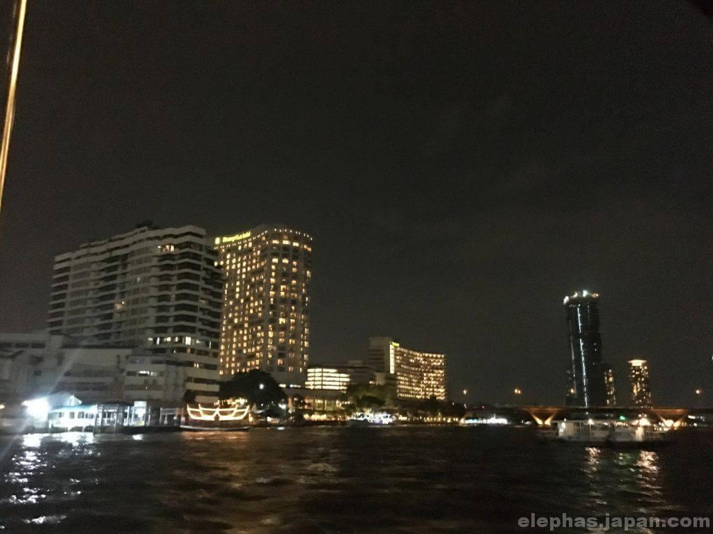 マンダリンオリエンタル船からの夜景