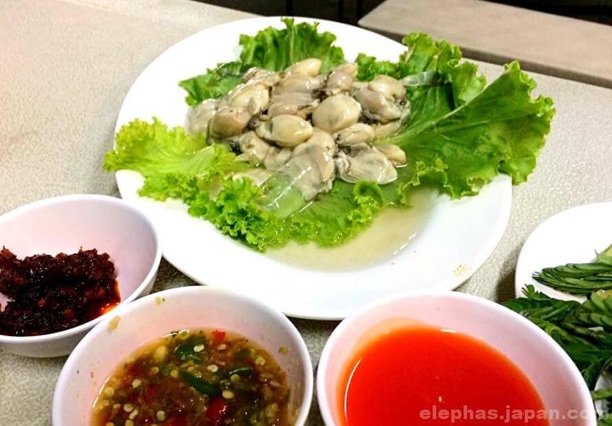 タイのシーフードレストランムンアロイのホイナンロム2