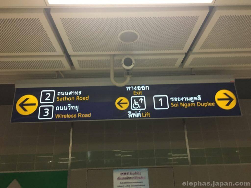 ルンピニー駅標識