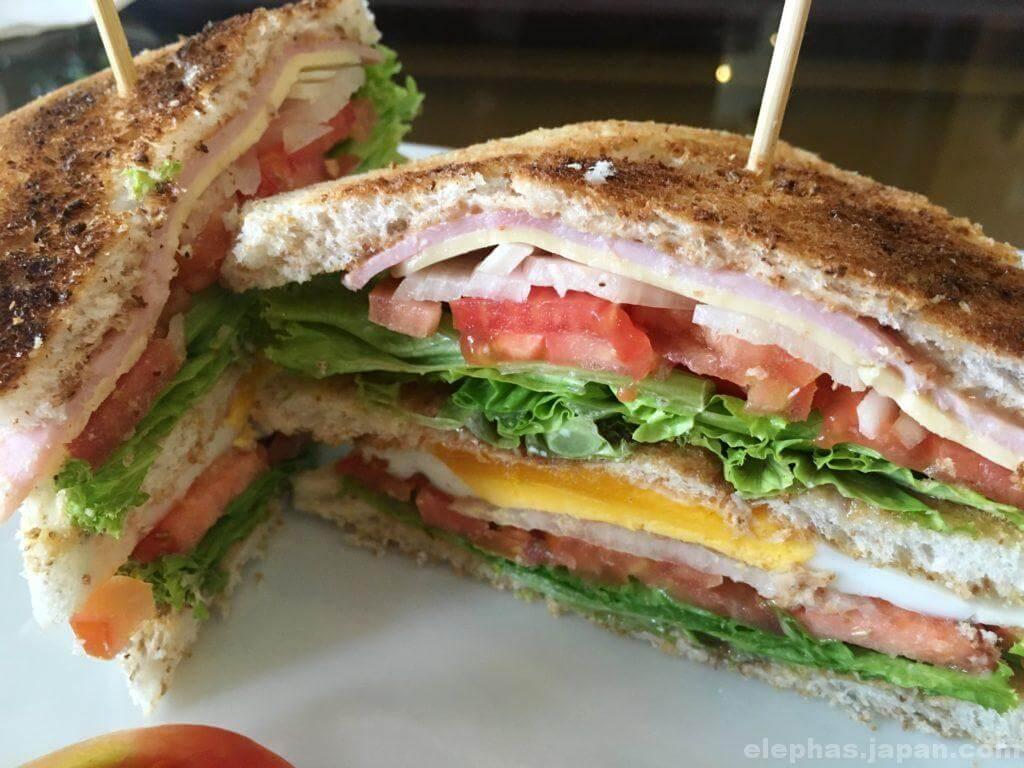 ジャスミンカフェのサンドイッチ