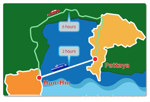 フェリーのマップ