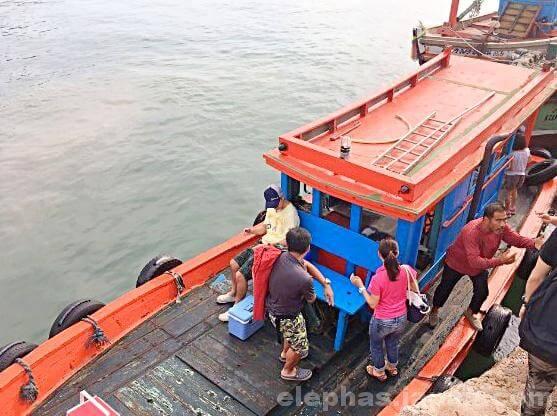 陣田筏の船